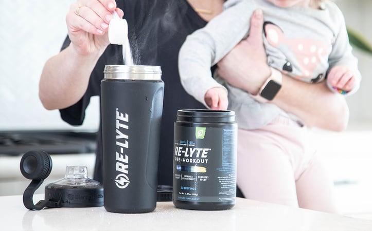 re-lyte pre-workout mom